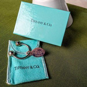 Genuine Tiffany & Co. SS Key Ring with Oval Tag